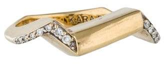 Kara Ross 18K Diamond Ring
