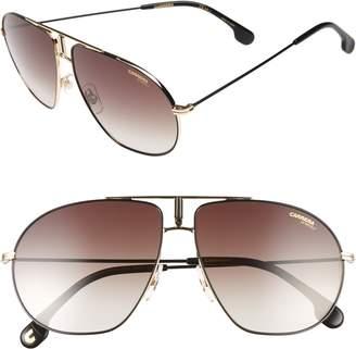 Carrera Eyewear Bounds 60mm Gradient Aviator Sunglasses