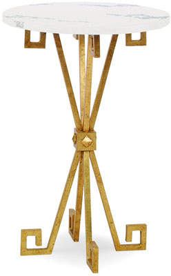 Century Furniture Lisa Gold Leaf Accent Table