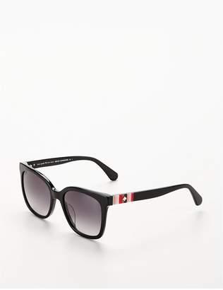Kate Spade Kate Space Rectangle Black Logo Arm Sunglasses