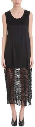 Jil Sander Black Cupro Dress