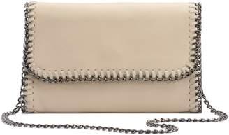 R&R Leather Whip-Stitch Leather Crossbody Bag