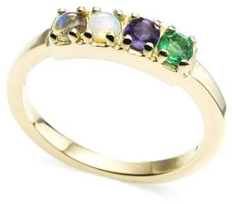 Lulu Frost CODE Word Love Ring 14k Gold