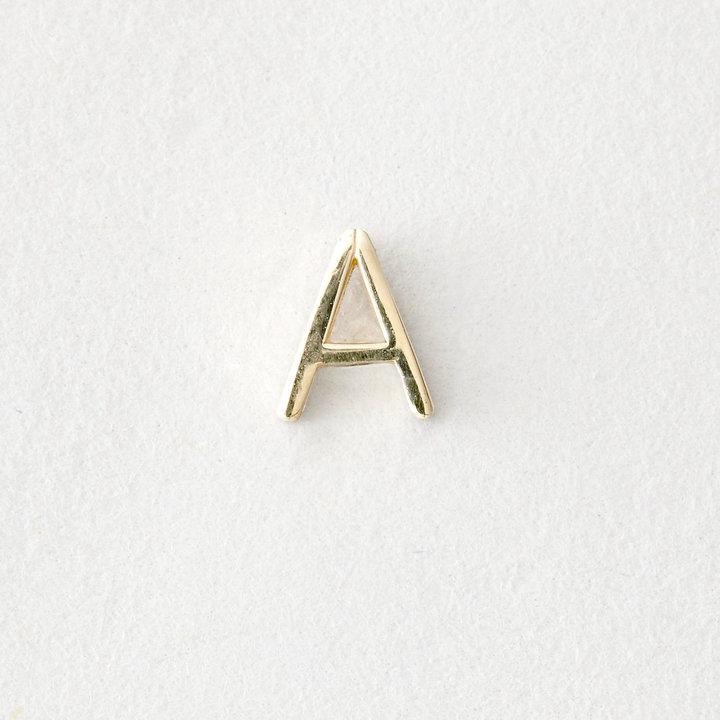 Maya Brenner DESIGNS mini letter stud earring - a