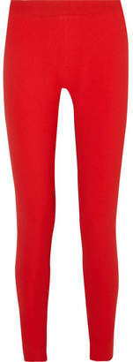 Gareth Pugh Two-tone Crepe Leggings - Red