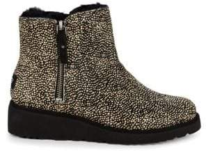 UGG Shala Exotic Calf Hair & Lamb Shearling Booties
