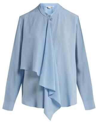 Stella McCartney Draped Panel Blouse - Womens - Light Blue