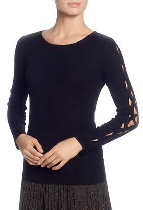 T Tahari Cutout-Sleeve Sweater