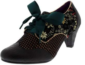 Poetic Licence Womens End Of Story Lace Up Floral Mary Jane Mid Heel - 8
