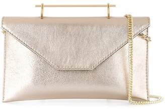 M2Malletier metallic gold-tone clutch bag