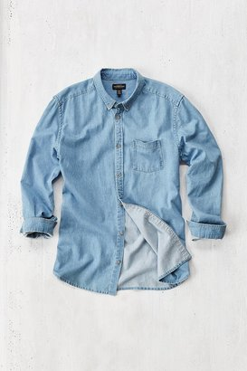 Urban Outfitters Stevens Essential Denim Button-Down Shirt $54 thestylecure.com