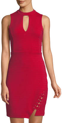 Bebe Choker-Neck Bandage Dress