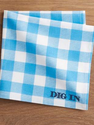Draper James Crate and Barrel x Dig In Embroidered Napkin