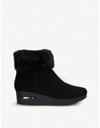 DKNY Aron suede wedge ankle boots