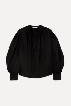 Etoile Isabel Marant Olto Cotton-poplin Blouse - Black