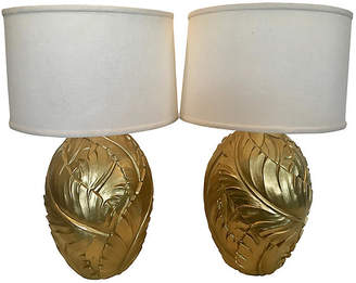 Gold Palm Leaves Table Lamps