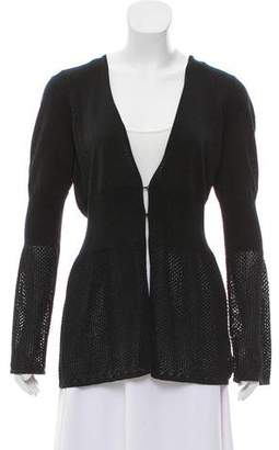 Magaschoni Glitter Open Knit Cardigan