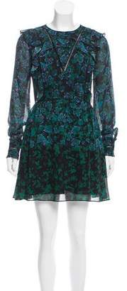Tanya Taylor Silk Printed Mini Dress