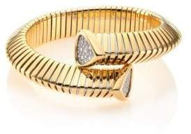 Marina B Trisola Diamond& 18K Yellow Gold Coil Bracelet