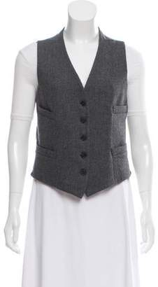 CNC Costume National Wool Button-Up Vest