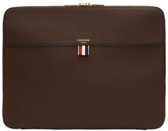 Thom Browne Brown Zip Around Soft Document Holder