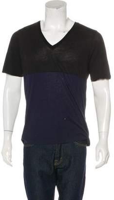 Dries Van Noten Colorblock V-Neck T-Shirt