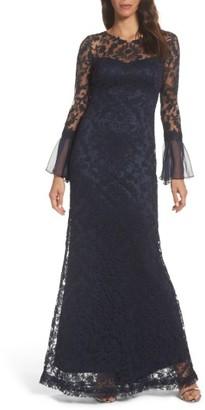Women's Tadashi Shoji Lace Mermaid Gown $568 thestylecure.com