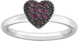 FINE JEWELRY Personally Stackable Lab-Created Ruby Heart Ring