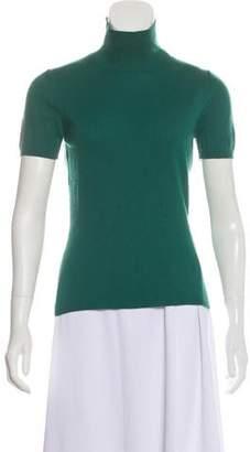 Burberry Cashmere Short Sleeve Turtleneck