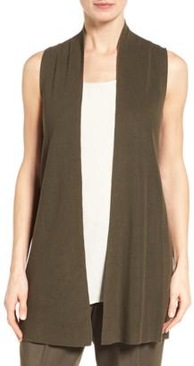 Eileen Fisher Sleek Ribbed Tencel(R) Vest $258 thestylecure.com