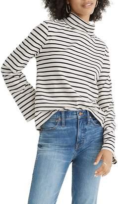 Madewell Morris Stripe Wide Sleeve Turtleneck