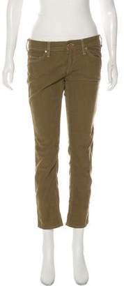 Etoile Isabel Marant Corduroy Mid-Rise Straight-Leg Pants