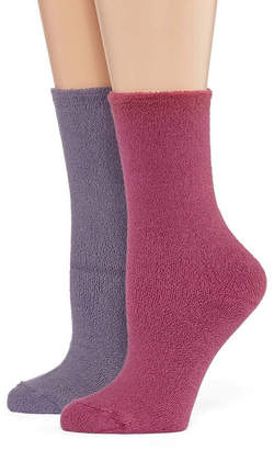 Asstd National Brand 2 Pair Crew Socks - Womens