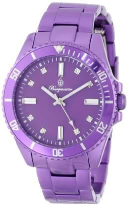 Burgmeister Color Sport Women's Quartz Watch with Purple Dial Analogue Display and Purple Bracelet BM161-033