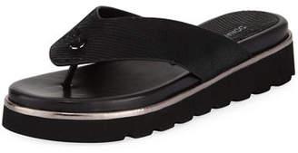 Donald J Pliner Lenore Lizard-Embossed Comfort Sandals