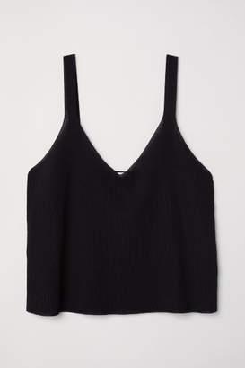 H&M Fine-knit Top - Black