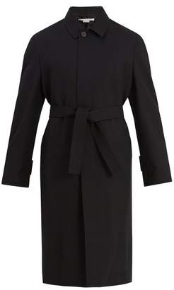 Stella Mccartney - Point Collar Wool Twill Trench Coat - Mens - Black