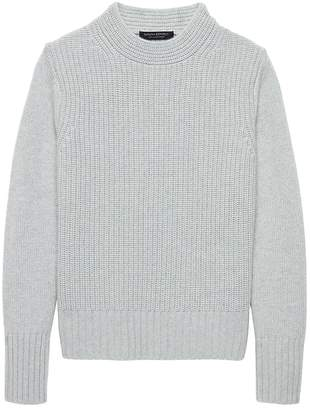 Banana Republic Cashmere Cropped Mock-Neck Sweater