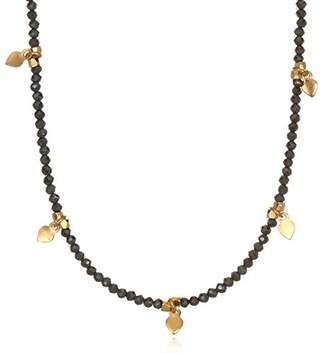 Satya Jewelry Pyrite Gold Plate Lotus Petal Choker Necklace