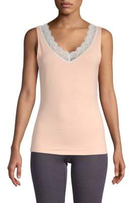 Hanro Lace-Trimmed Tank Top