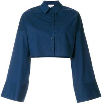 Dondup flared-sleeve cropped shirt