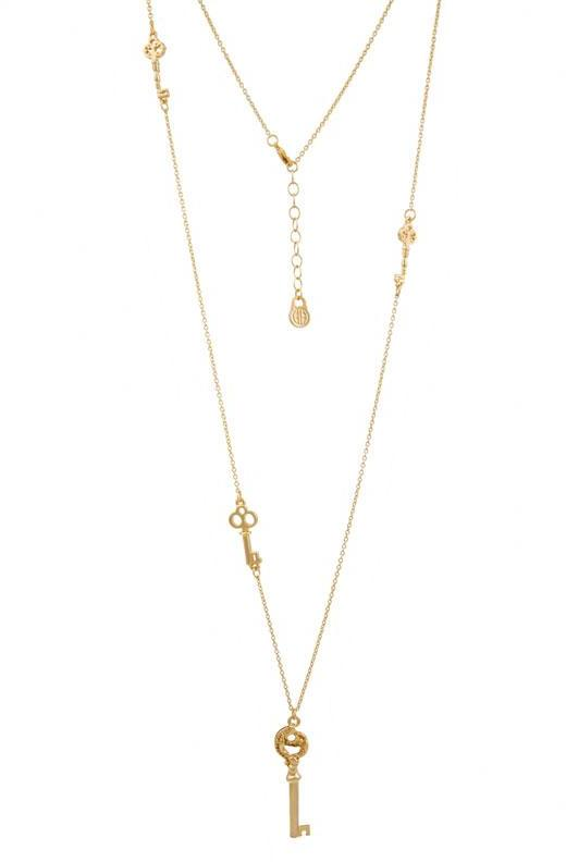 House of Harlow 1960 Long Key Necklace in Gold