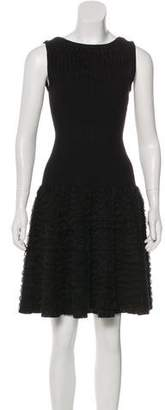 Alaia Ruffle-Accented Sleeveless Dress