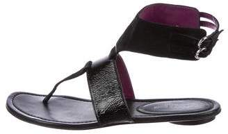 Sergio Rossi Suede Thong Sandals