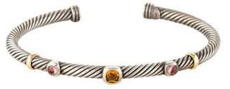 David Yurman Citrine & Tourmaline Cable Cuff