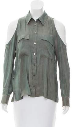 Veronica Beard Cold-Shoulder Button-Up Top w/ Tags