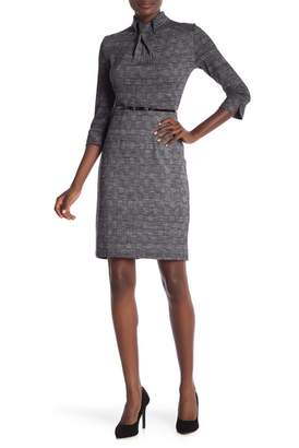 Amelia 3\u002F4 Sleeve Print Dress