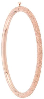 Carolina Bucci 18kt rose gold Florentine Finish oval bangle