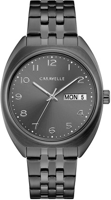 Caravelle Men's Gunmetal Ion-Plated Stainless Steel Watch - 45B154