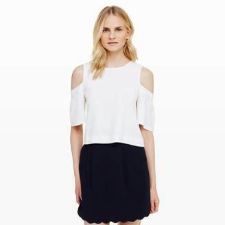 Club Monaco Portiana Cold-Shoulder Top